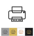 printer icon office printing document equipment vector image