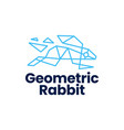 rabbit hare bunny geometric polygonal logo icon vector image vector image