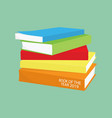 reading concept pile books and opened book vector image vector image