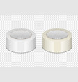 realistic 3d glossy tape roll icon set or vector image vector image