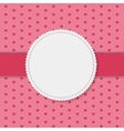 Retro Frame on Cute Background vector image vector image