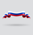 russian wavy flag vector image