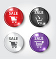 sale button glossy for web vector image