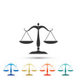 scales of justice icon on white background vector image vector image