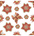 seamless pattern autumn flowers butterflies the vector image