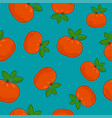 seamless pattern mandarin on azure background vector image vector image