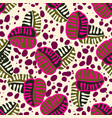 seamless trendy pattern design with leafs vector image vector image