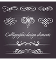 set calligraphic and page decoration vector image