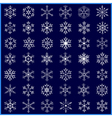 set decorative winter snowflakes vector image vector image