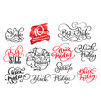 set of black friday calligraphic design retro vector image