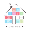 smart home outline icon vector image