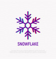 snowflake thin line icon vector image