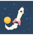 Spaceship in space vector image vector image