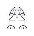 sphinx line icon sign on vector image vector image