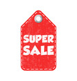 super sale hang tag vector image vector image
