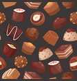 sweet chocolate seamless pattern vector image