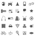 Toy icons on white background vector image vector image