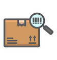 tracking parcel filled outline icon logistic vector image
