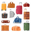 travel bag luggage suitcase for journey vector image vector image