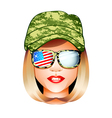 us army girl vector image