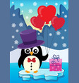 valentine penguin topic image 3 vector image vector image
