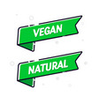 vegan food flag set modern natural banner concept vector image