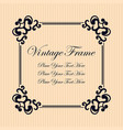 vintage decorative frame elegant ornamental vector image