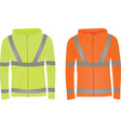 yellow and orange safety jackets vector image vector image