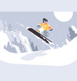 snowboarder guy snowboarding vector image