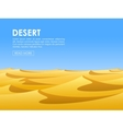 Desert lanscape vector image