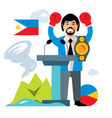 travel concept philippines flat style vector image