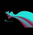 abstract 3d blue and pink color liquid vector image vector image