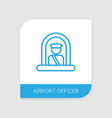 airport officer icon white background vector image vector image