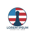 american chess logo for club or school vector image vector image