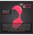 Arabic woman in red hijab on black vector image