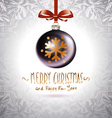 Background with Christmas balls Eps 10 grey vector image vector image