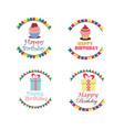 birthday logo design collection vector image