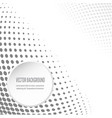 black and white background with circular halftone vector image
