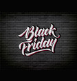 black friday lettering hand drawn ink brush vector image vector image