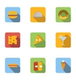 Brunch icons set flat style vector image vector image