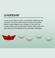 business presentation template with paper boat vector image vector image