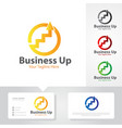 business up logo design vector image