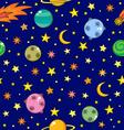 cartoon dark space pattern vector image
