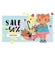 cat big sale banner business autumn vector image