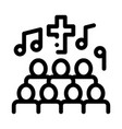 church choir singing song concert icon vector image vector image