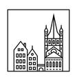 Cityscape icon vector image vector image