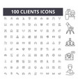 clients line icons signs set outline vector image vector image