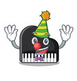 clown piano mascot cartoon style vector image
