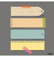 Collection of vintage note papers ready for your vector image vector image