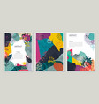 collection trendy creative cards with vector image
